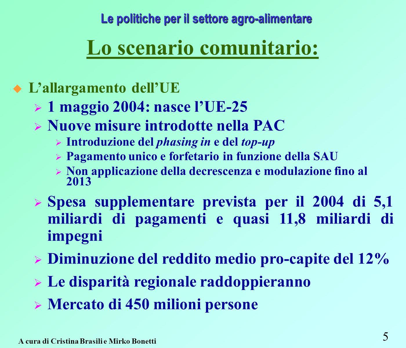 66 Interventi strutturali e di mercato Fonte: Regione Emilia-Romagna – Assessorato Agricoltura, Ambiente e Sviluppo sostenibile.