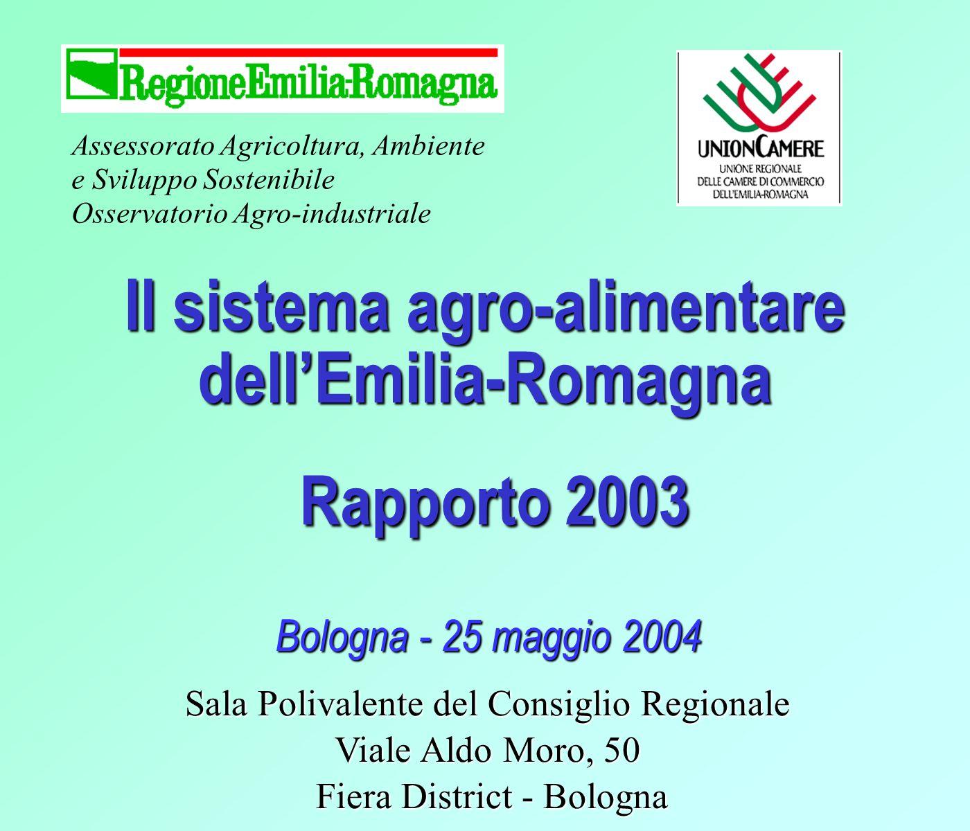 I fatti salienti dellannata agraria 2003 Il lavoro Gli occupati in agricoltura sono scesi a 93.000 (-6%) u Diminuzione del 6% sia dei lavoratori dipendenti che autonomi A livello nazionale loccupazione in agricoltura ha avuto una flessione meno consistente rispetto allEmilia-Romagna (-1,9%) u (-1,7% lavoratori indipendenti, -2,2% lavoratori dipendenti) 12