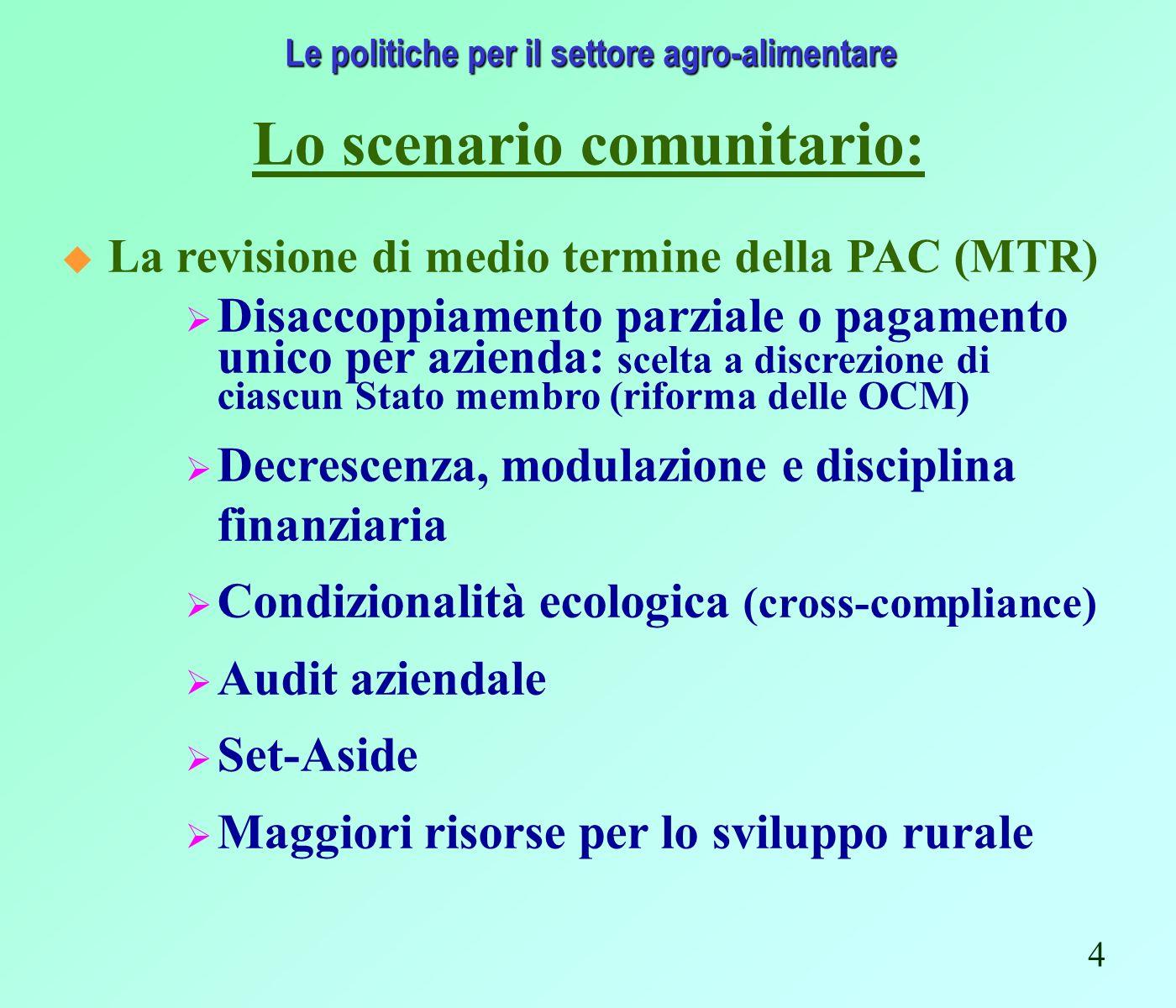 Fonte: Regione Emilia-Romagna – Assessorato Agricoltura, Ambiente e Sviluppo Sostenibile Gli interventi a favore dellagricoltura regionale Pagamenti PRSR 2003 (composizione percentuale) 25