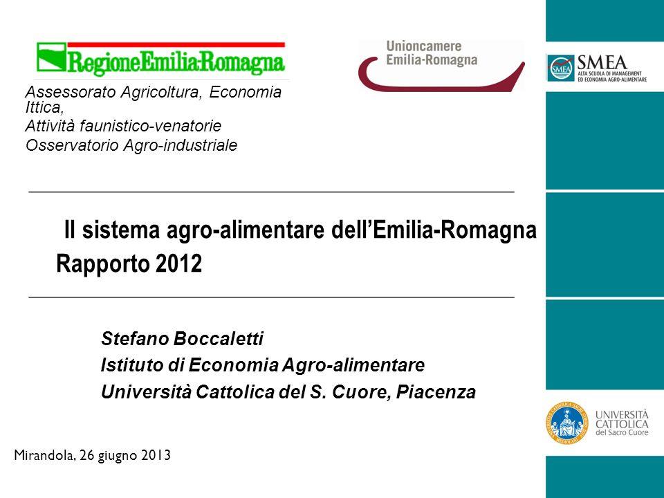 Il sistema agro-alimentare dellEmilia-Romagna Rapporto 2012 Stefano Boccaletti Istituto di Economia Agro-alimentare Università Cattolica del S.