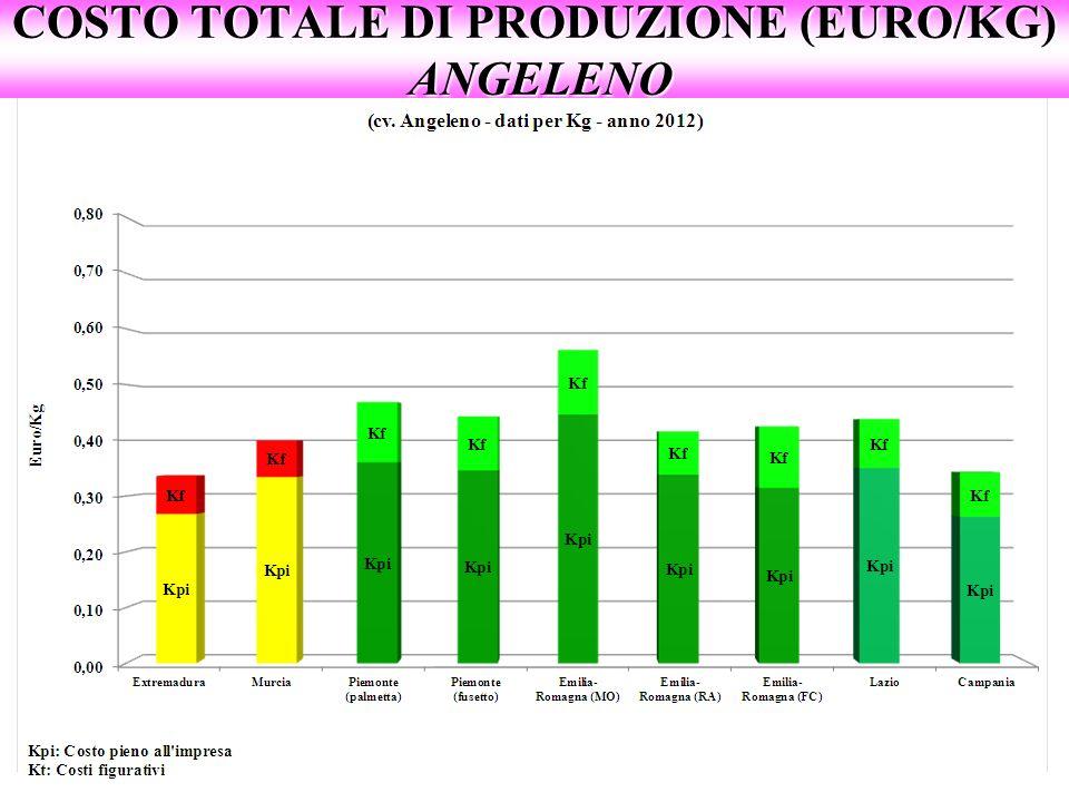 COSTO TOTALE DI PRODUZIONE (EURO/KG) ANGELENO