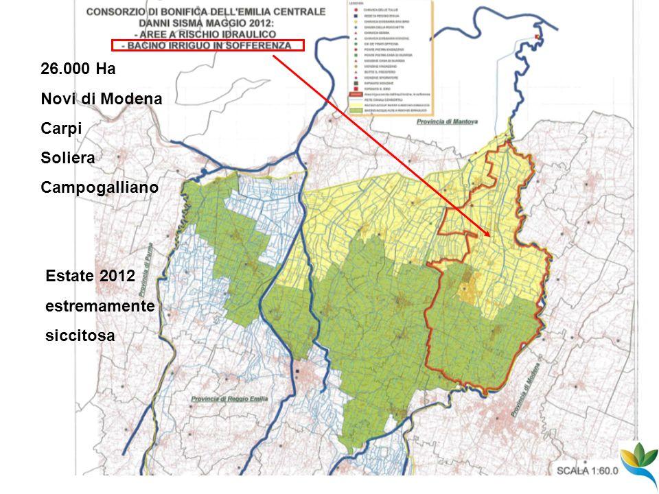 26.000 Ha Novi di Modena Carpi Soliera Campogalliano Estate 2012 estremamente siccitosa