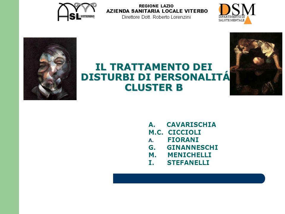 REGIONE LAZIO AZIENDA SANITARIA LOCALE VITERBO Direttore Dott.
