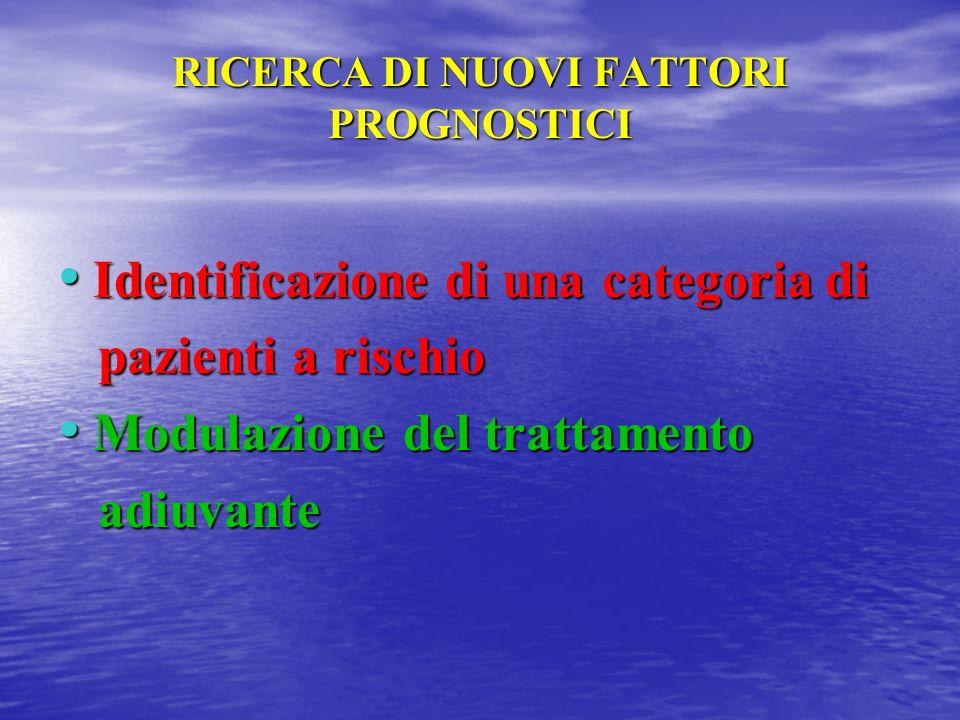 RICERCA DI NUOVI FATTORI PROGNOSTICI Identificazione di una categoria di Identificazione di una categoria di pazienti a rischio pazienti a rischio Mod