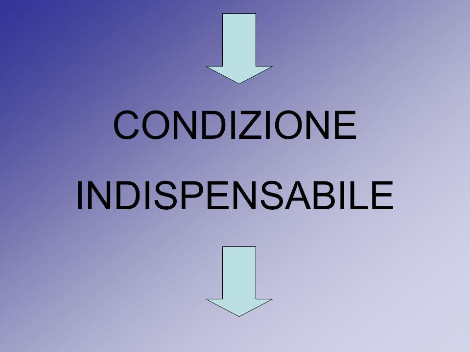 CONDIZIONE INDISPENSABILE