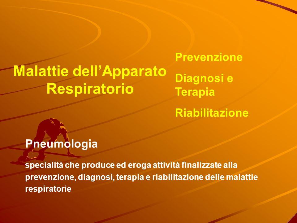 Malattie dellApparato Respiratorio Prevenzione Diagnosi e Terapia Riabilitazione Pneumologia specialità che produce ed eroga attività finalizzate alla