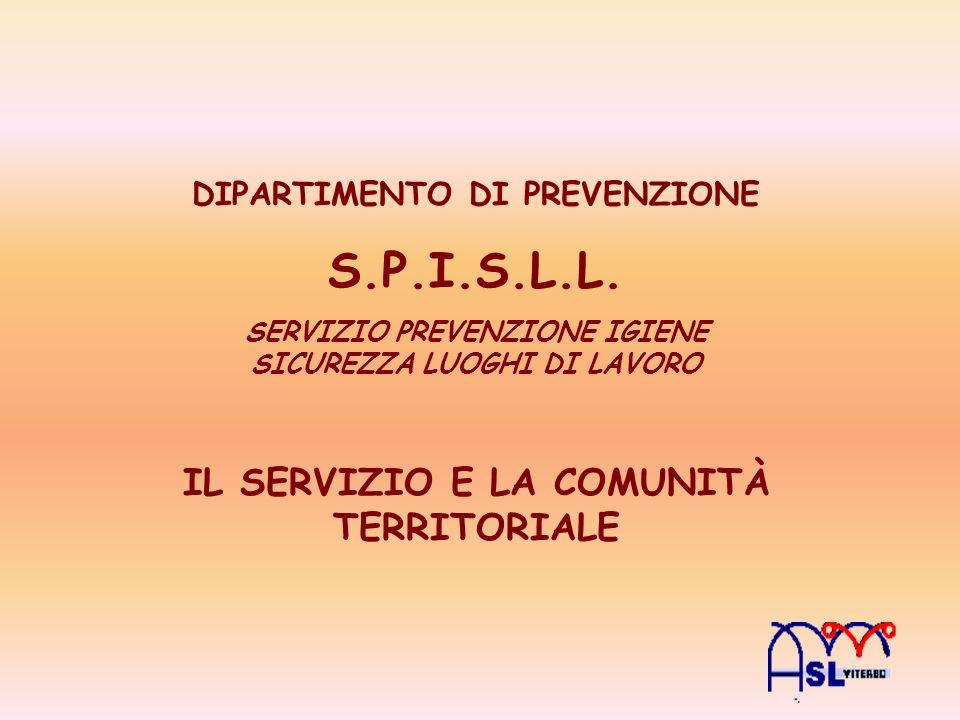Nel 2004 in Italia 966.568 infortuni denunciati Di cui 1.278 mortali 25.364 malattie professionali Questo fenomeno è contrastato dal SSN CON I SERVIZI DI PREVENZIONE