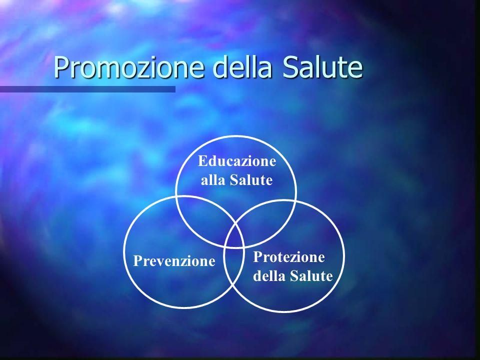 Promozione della Salute Educazione alla Salute Prevenzione Protezione della Salute