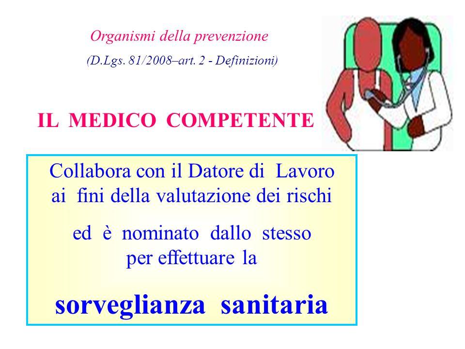 Organismi della prevenzione (D.Lgs.81/2008–art.