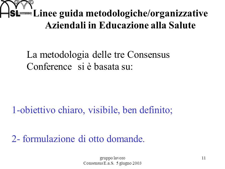 gruppo lavoro Consensus E.a.S.