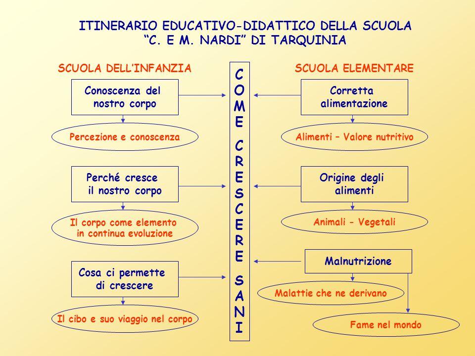ITINERARIO EDUCATIVO-DIDATTICO DELLA SCUOLA C.E M.