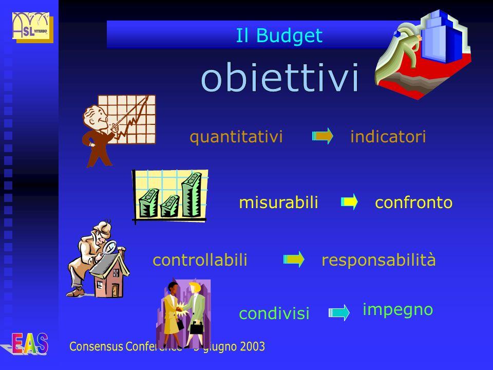 Il Budget quantitativi misurabili controllabili condivisi indicatori confronto responsabilità impegno