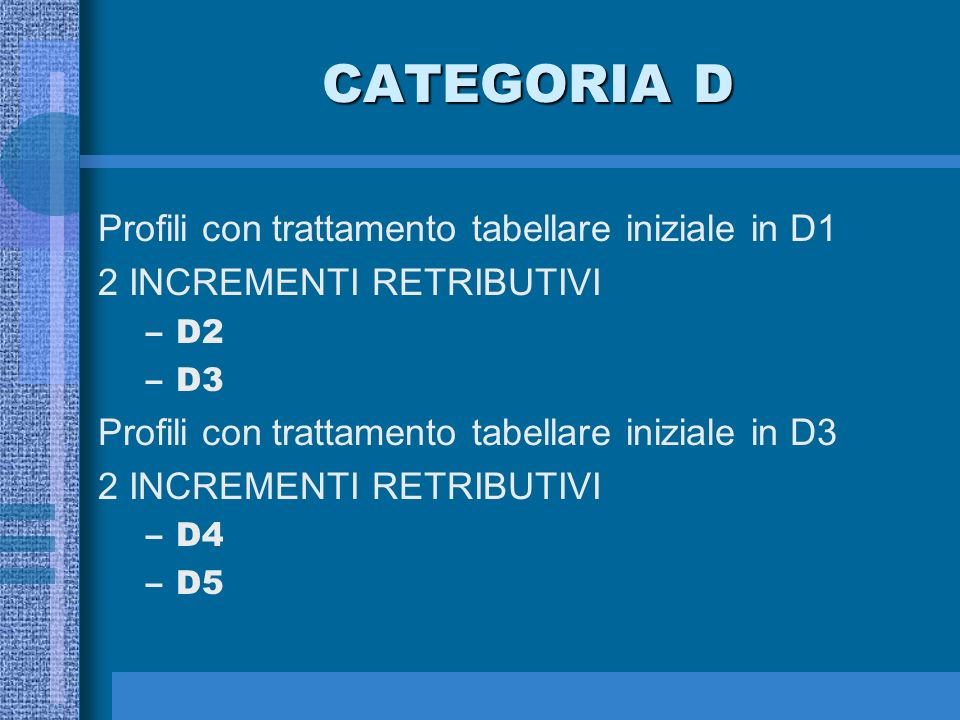 CATEGORIA C 3 INCREMENTI RETRIBUTIVI –C2 –C3 –C4