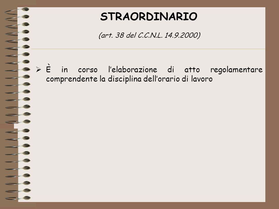 STRAORDINARIO (art.38 del C.C.N.L.