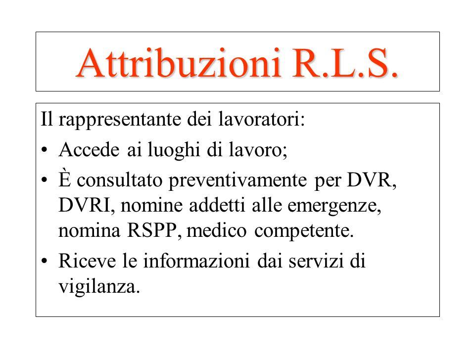 Il rappresentante dei lavoratori: Accede ai luoghi di lavoro; È consultato preventivamente per DVR, DVRI, nomine addetti alle emergenze, nomina RSPP,