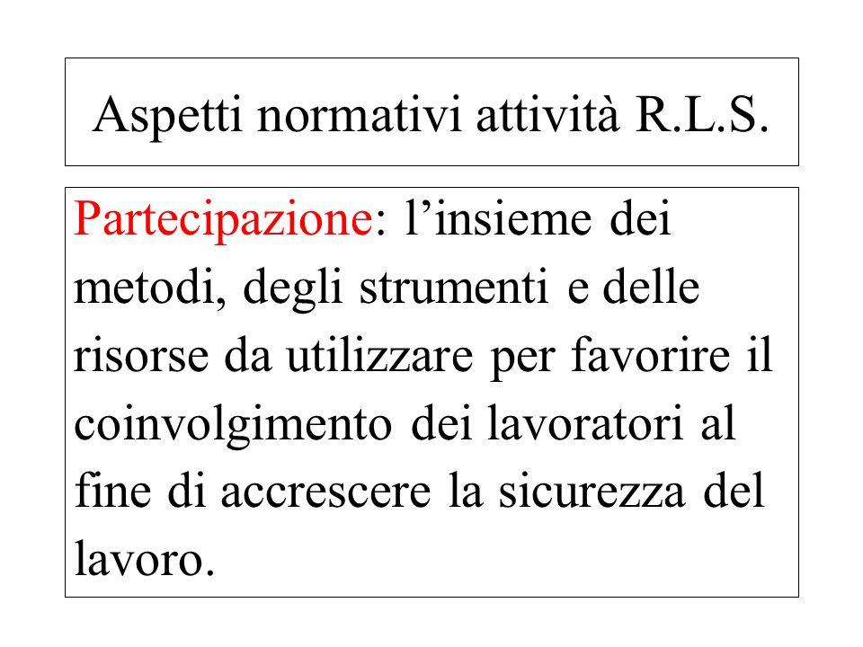 Il decreto legislativo n° 81/08 dedica una attenzione particolare al RLST (rapp.