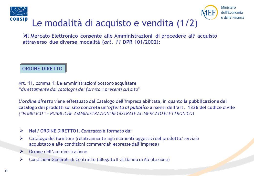 10 MEPA - Come funziona Qualifica fornitori Gestione catalogo Gestione doc.le Reporting Pubblicano ed aggiornano il catalogo Ricevono OdA Rispondono a