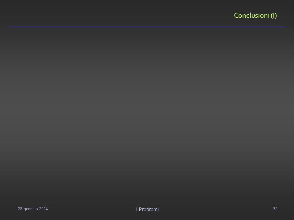 Conclusioni (I) 29 gennaio 2014 I Prodromi 32