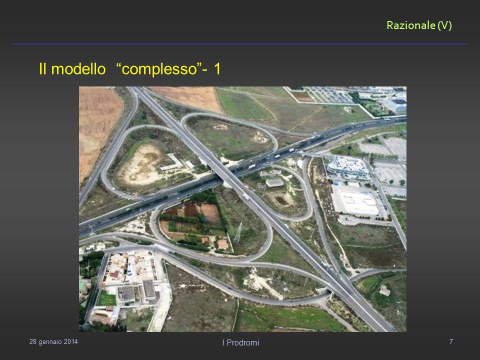 Razionale (V) 29 gennaio 2014 I Prodromi 7 Il modello complesso- 1