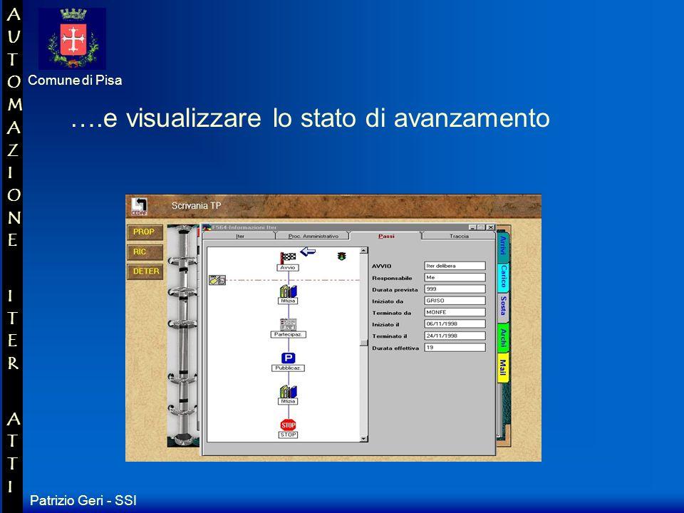 Patrizio Geri - SSI Comune di Pisa AUTOMAZIONE ITER ATTIAUTOMAZIONE ITER ATTI …siamo in grado di avere tutte le informazioni dellatto...