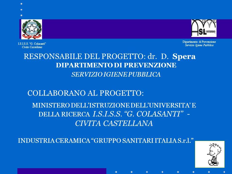 PREVENZIONE DEL TABAGISMO Gli studenti dellIstituto G. COLASANTI di Civita Castellana - organizzano una campagna di prevenzione contro il fumo (Il tit