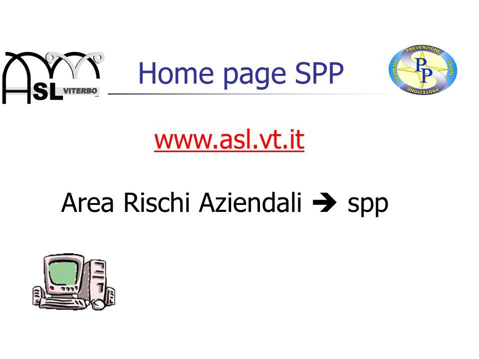 Home page SPP www.asl.vt.it Area Rischi Aziendali spp