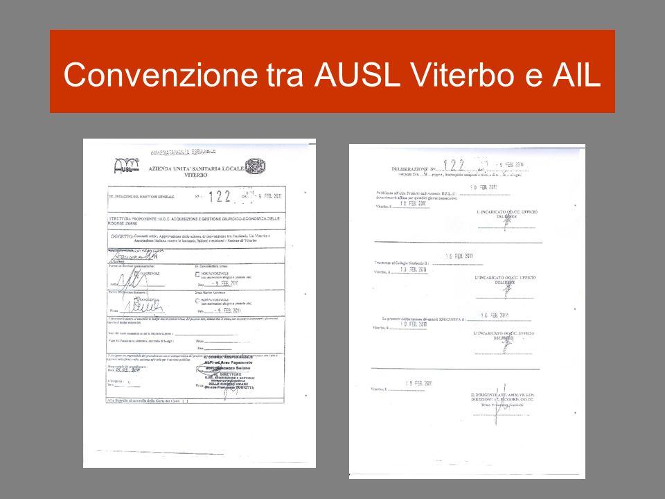 Convenzione tra AUSL Viterbo e AIL