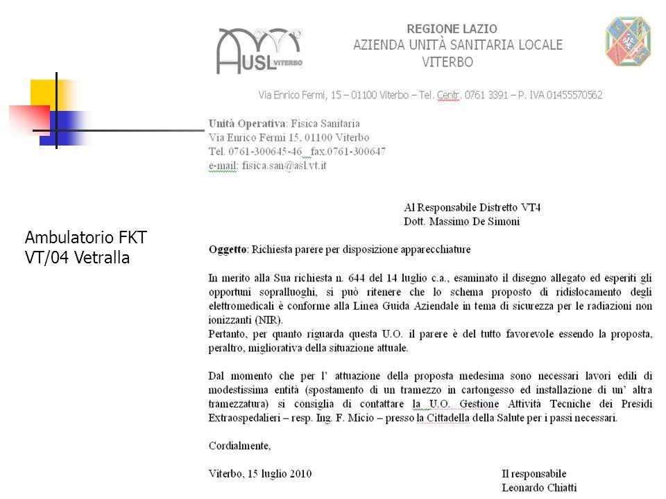 Ambulatorio FKT VT/04 Vetralla