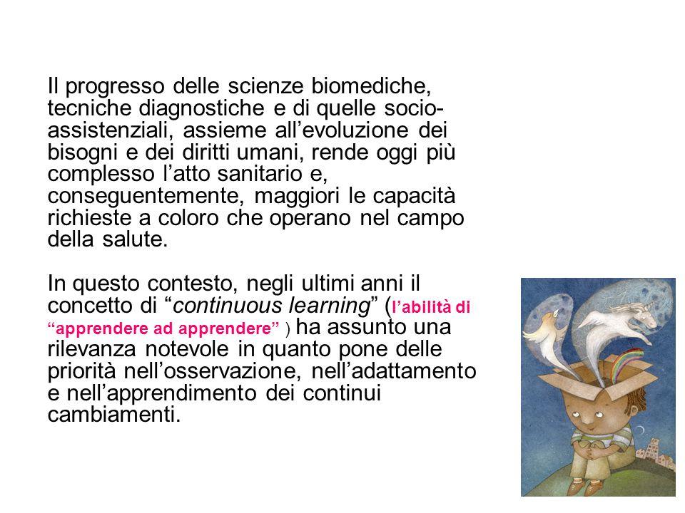 Il progresso delle scienze biomediche, tecniche diagnostiche e di quelle socio- assistenziali, assieme allevoluzione dei bisogni e dei diritti umani,