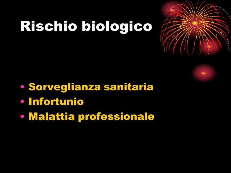 Rischio biologico Sorveglianza sanitaria Infortunio Malattia professionale