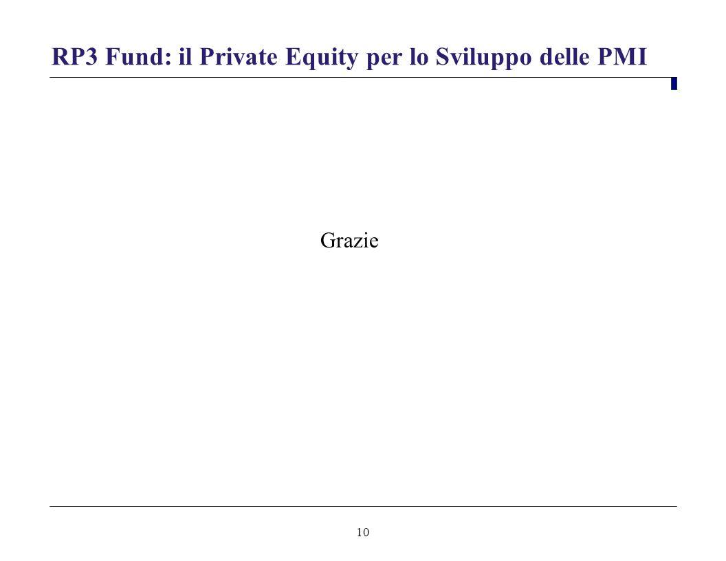 10 RP3 Fund: il Private Equity per lo Sviluppo delle PMI Grazie