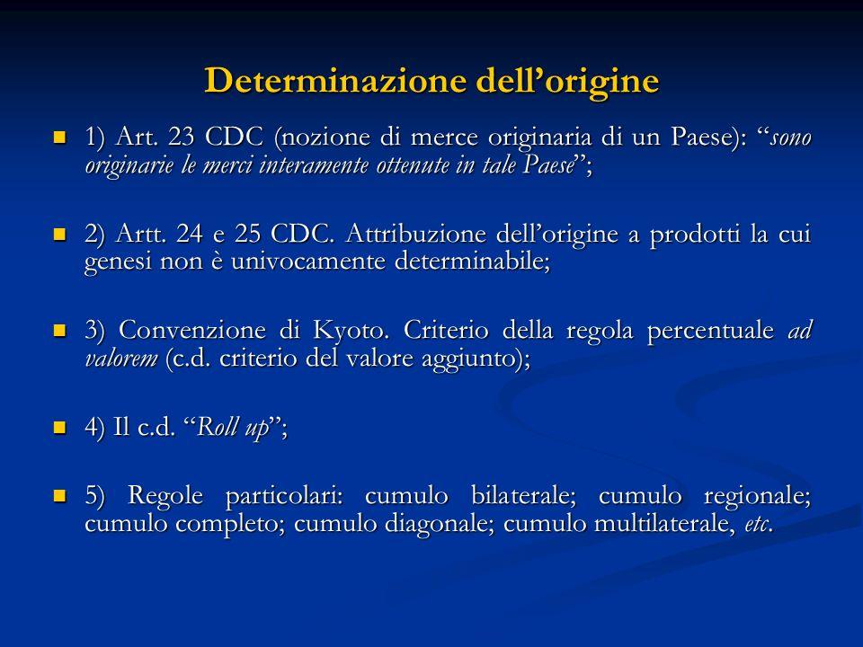Determinazione dellorigine 1) Art.