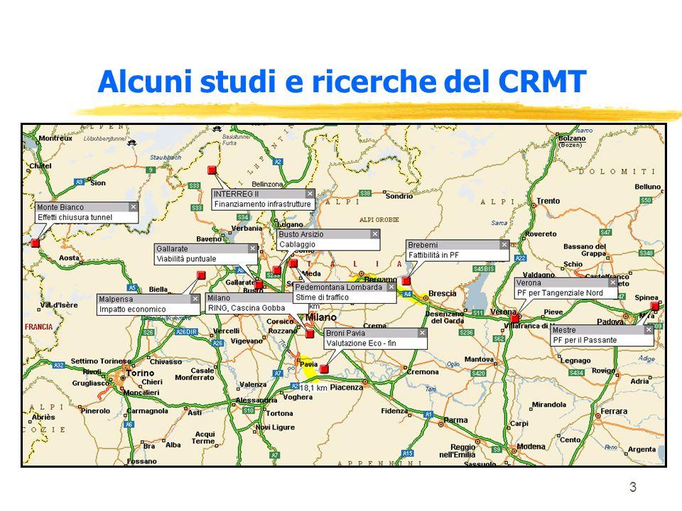 3 Alcuni studi e ricerche del CRMT