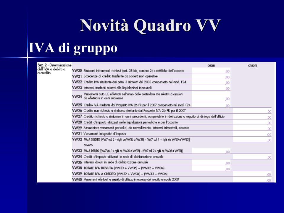 Novità Quadro VV IVA di gruppo