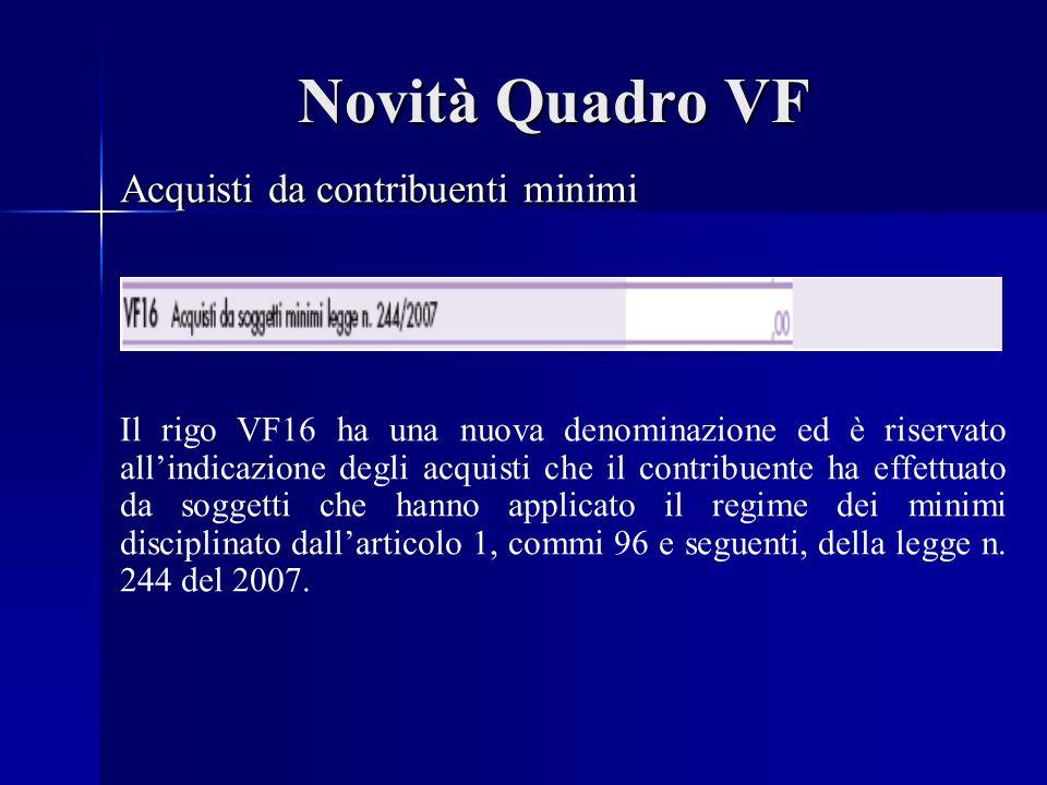 Novità Quadro VH Ravvedimento operoso art.13 dlgs n.