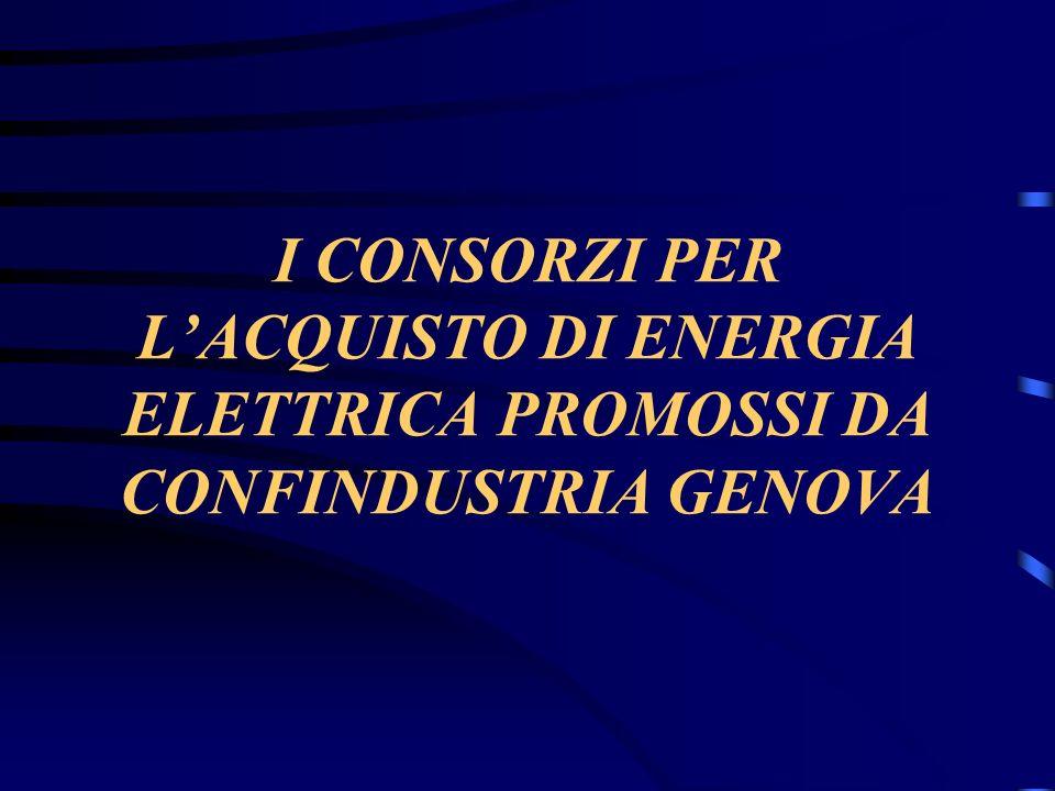 I CONSORZI PER LACQUISTO DI ENERGIA ELETTRICA PROMOSSI DA CONFINDUSTRIA GENOVA
