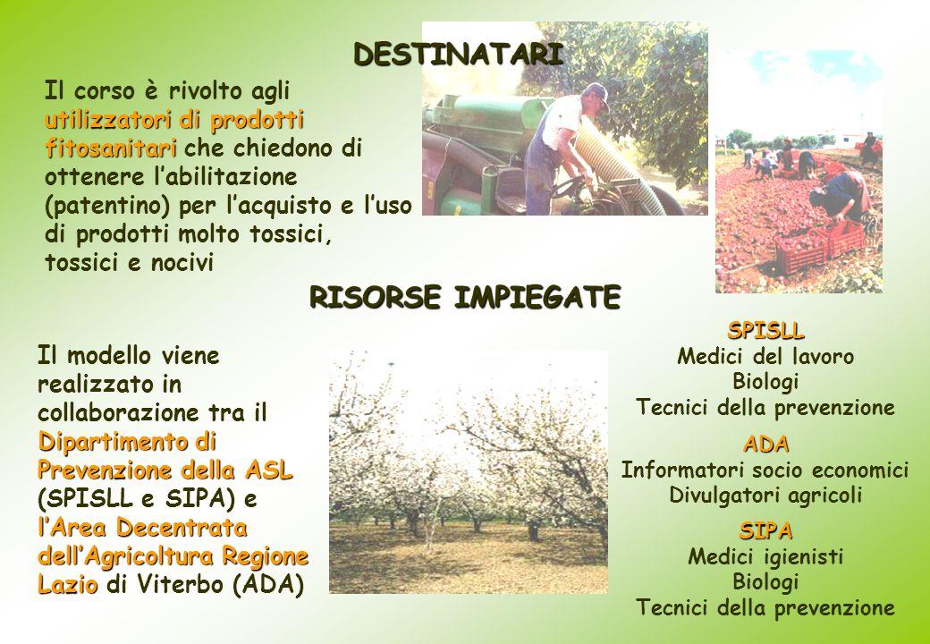 Dipartimento di Prevenzionedella ASL lArea Decentrata dellAgricoltura Regione Lazio Il modello viene realizzato in collaborazione tra il Dipartimento