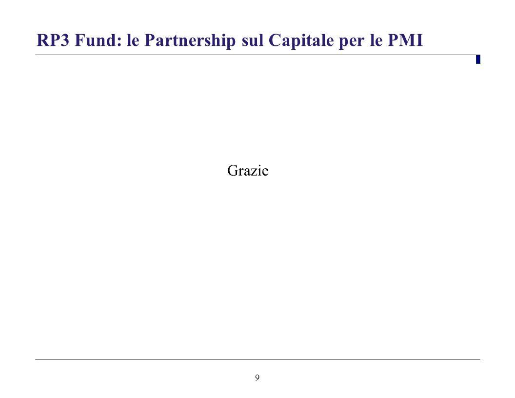 9 RP3 Fund: le Partnership sul Capitale per le PMI Grazie