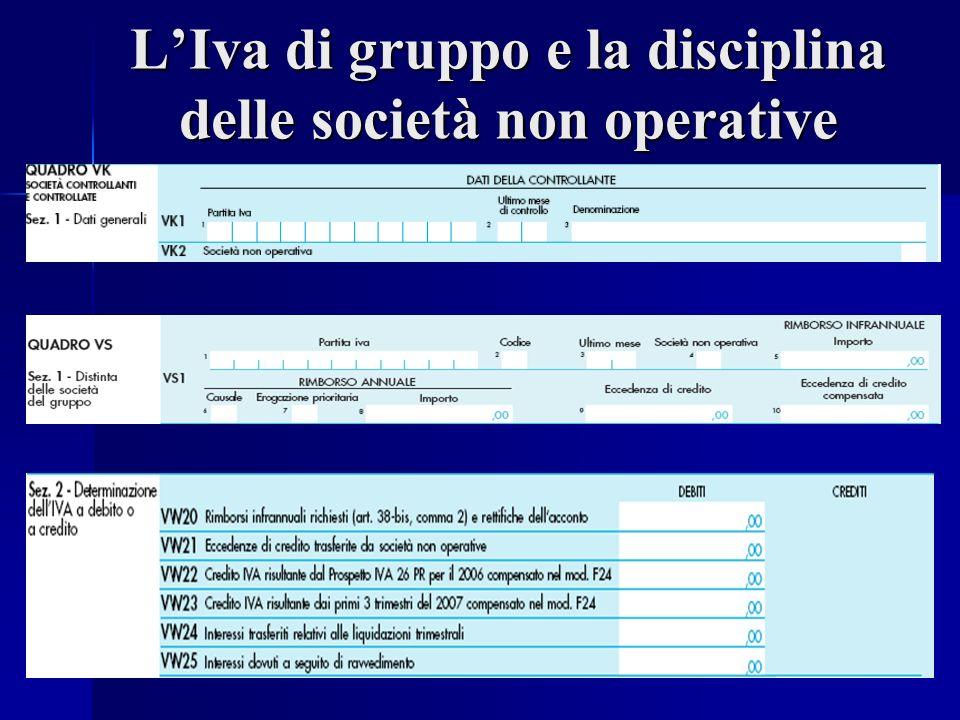 LIva di gruppo e la disciplina delle società non operative
