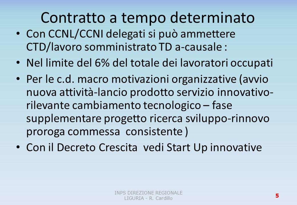 Contratto a progetto Introduzione di disincentivi normativi (PRESUNZIONI ASSOLUTE E RELATIVE) per evitare utilizzi impropri del contratto a progetto.
