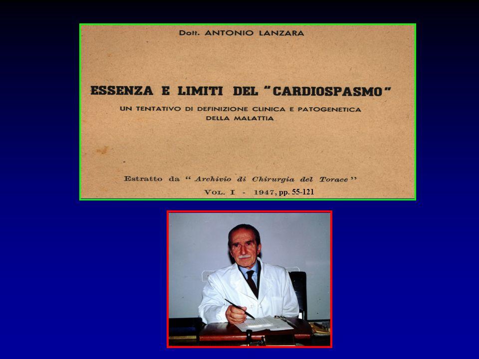 Assenza di reflusso gastroesofageo acido patologico nel 100% dei casi Acalasia Esofagea Esperienza personale (1992-2007) ( follow-up strumentale 60.6±28.1 mesi) (85/217 pts 39.2%) Del Genio, 2006 pHmetria 24 ore o pH-impedenziometria