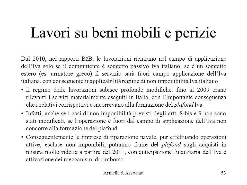 Lavori su beni mobili e perizie Dal 2010, nei rapporti B 2 B, le lavorazioni rientrano nel campo di applicazione dellIva solo se il committente è sogg