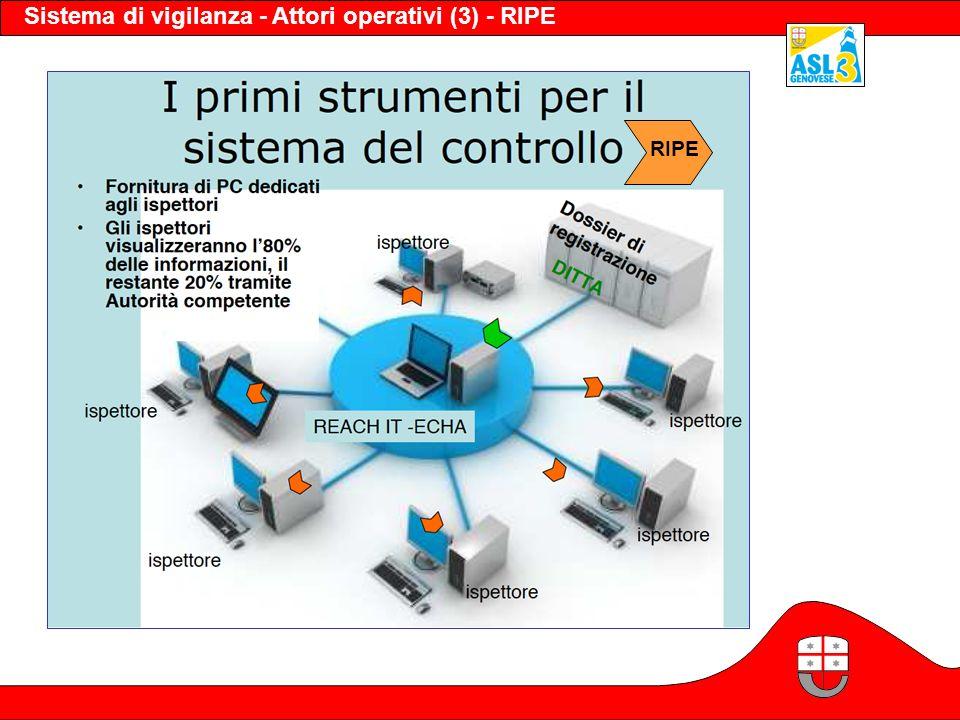 Sistema di vigilanza - Attori operativi (3) - RIPE RIPE