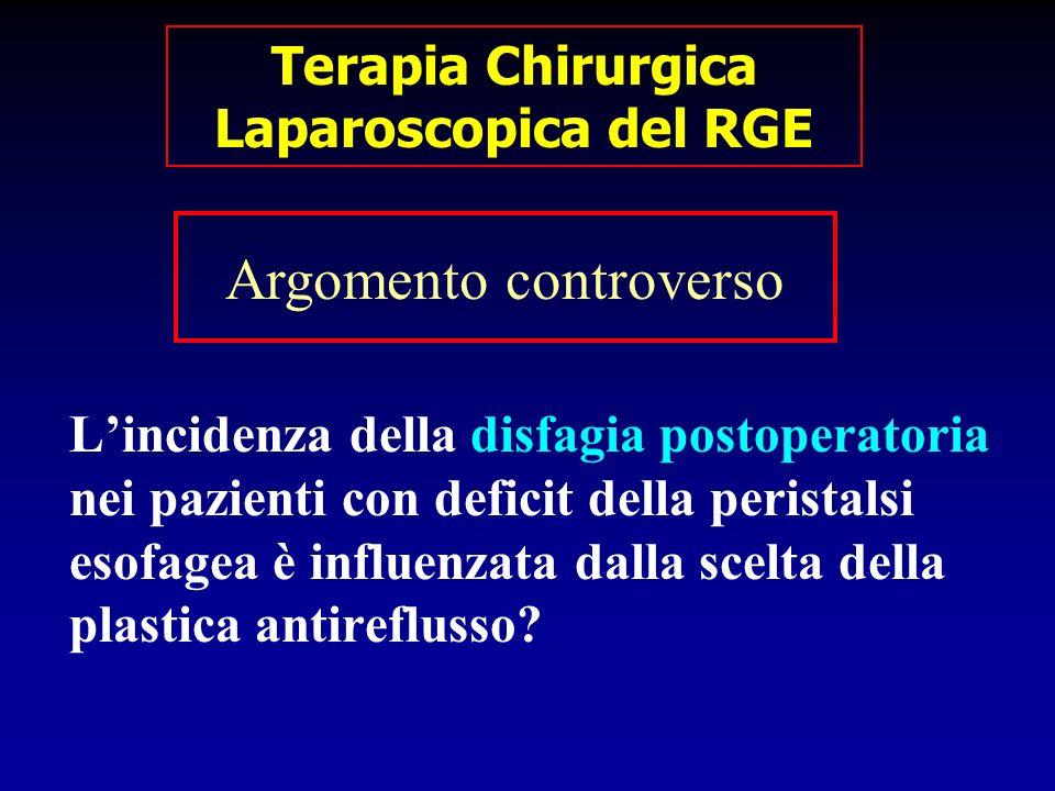 Lincidenza della disfagia postoperatoria nei pazienti con deficit della peristalsi esofagea è influenzata dalla scelta della plastica antireflusso? Ar