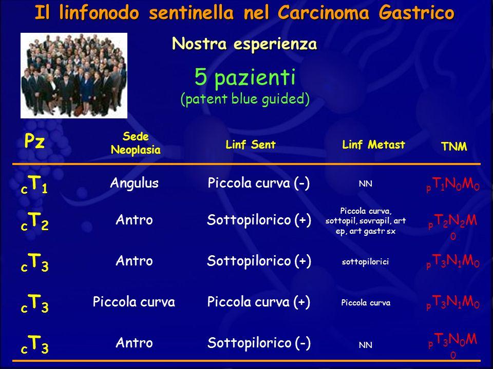 100%0%Falsi negativi Il linfonodo sentinella nel Carcinoma Gastrico Nostra esperienza Identificazione SN