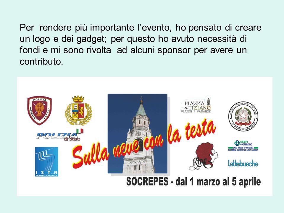 Grazie alla collaborazione della Cassa Rurale Credito Cooperativo di Cortina, allAgenzia Viaggi Tiziano e Rino s.n.c.