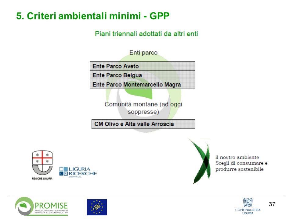 37 5. Criteri ambientali minimi - GPP