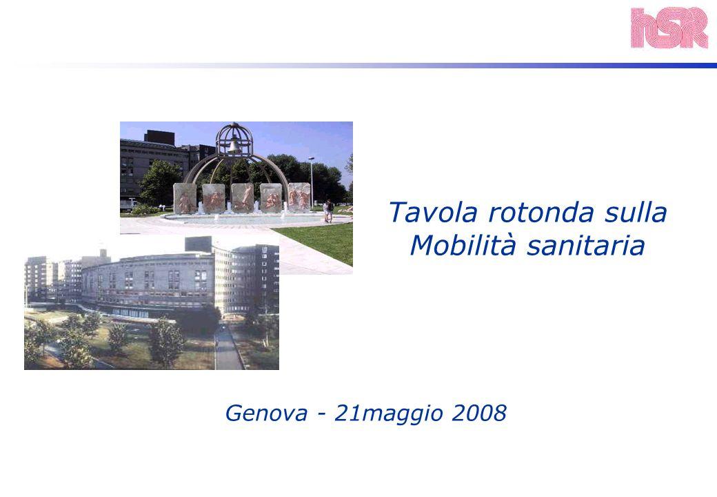 Genova - 21maggio 2008 Tavola rotonda sulla Mobilità sanitaria
