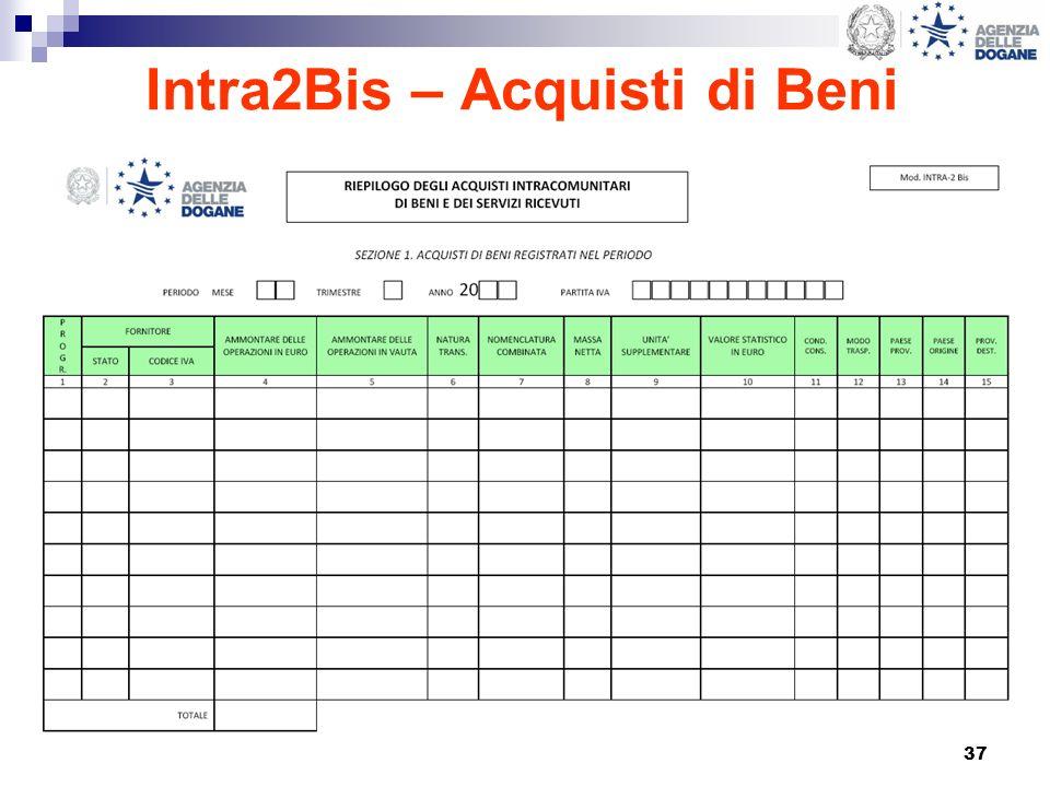 37 Intra2Bis – Acquisti di Beni