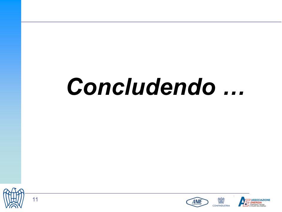 11 Concludendo …